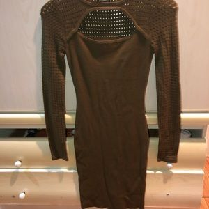 Olive green sweater dress GUESS